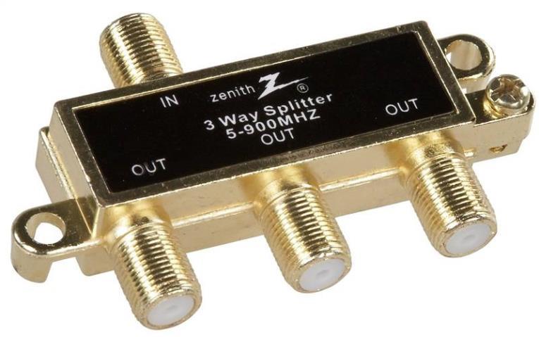 Zenith VS1001SP3W 3-Way Coaxial Splitter