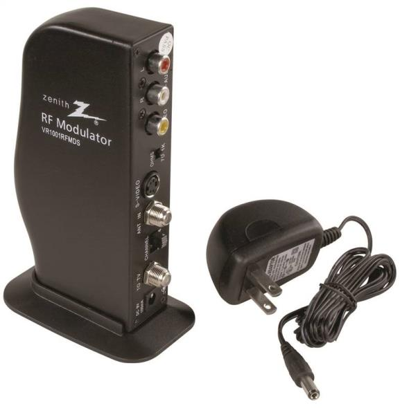 American Tack and Hdwe VR1001RFMDS Zenith RF Modulators, Video Converter, Black