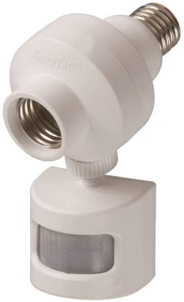 American Tack OMLC5BC Adjustable Motion Sensing Adapter, 120 V, 30 ft 180 Deg Occupancy Sensor, 10 A, 150 W, White