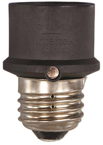AmerTac SLC4CB-4 Dusk to Dawn Light Control Socket, 150 W, Black