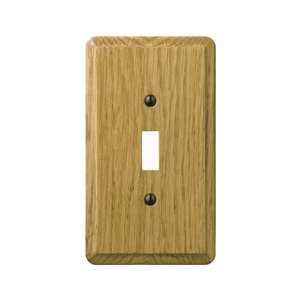 Amerelle Contemporary 1-Toggle Wall Plate, 1 Gang, 5-1/4 in L X 3 in W, Light