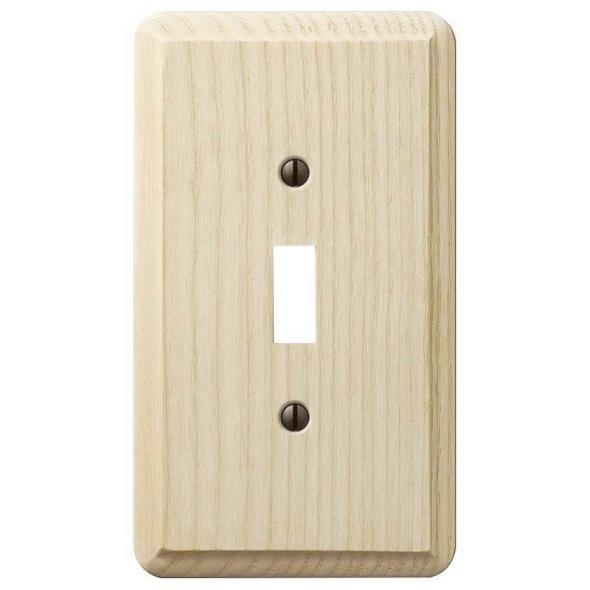 Amerelle Contemporary 1-Toggle Wall Plate, 1 Gang, 5-1/4 in L X 3 in W, Unfinished
