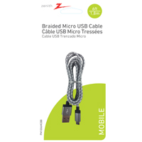 USB MICRO-USB A BRDD BLK 6FT
