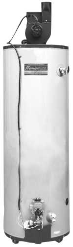 ULTRA LOW NOX 50-GALLON NATURAL GAS TALL WATER HEATER, PV