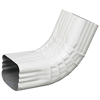 ELBOW A FRONT ALUM 3X4IN WHITE
