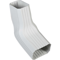 ELBOW GUTTER VINYL WHITE 2X3IN