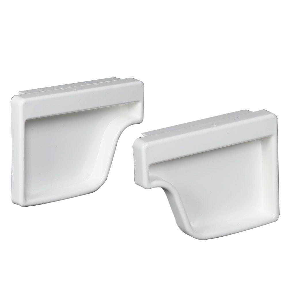 Amerimax M0611 Gutter End Cap Set, For Use With Traditional Vinyl Gutter