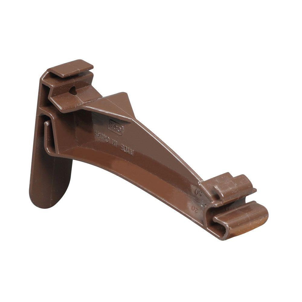 HOOK GUTTER TRDNL VINYL BROWN