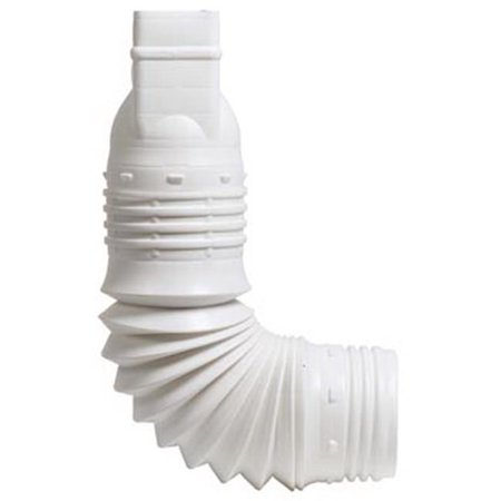 ADAPTER DOWNSPOUT WHITE 2X3IN