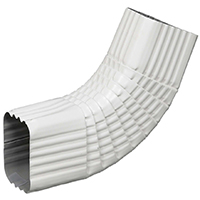 ELBOW B SIDE ALUM 3X4IN WHITE