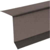 Amerimax 5762219120 Drip Edge, 2 in W x 2 in H x 10 ft L x 29 ga T, Brown