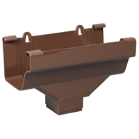 OUTLET END TRDNL BROWN 2INX3IN