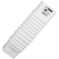 Amerimax 37084 Front Side Flexible Gutter Elbow, 8 - 18 in L Extended, White