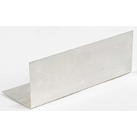 Amerimax 70718 Pre-Bent Step Flashing, 4 in W x 4 in L, Steel