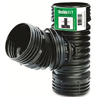 Amerimax ADP53702 Flexible Fitting Drain, 4 in, 70 psi, Polypropylene, Black, -50 to 150 deg F