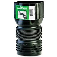 Flex-Drain ADP53102 Flexible Downspout Adapter, 3 x 4 x 4 in, 70 psi, PVC, Black