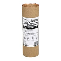 Amerimax 85067 Valley Flashing, 10 in W x 20 ft L, 3 oz Copper