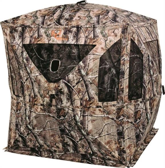 Ameristep 1RX3H013B Ground Hunting Blind, NS3 Carbon Enhanced Fabric, ShadowGuard Coating, Realtree Xtra Camo