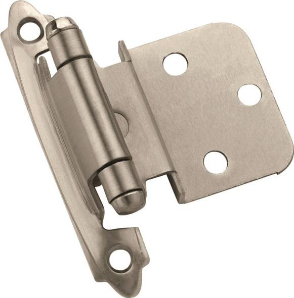 Amerock Inspiration BP3428G10 Self-Closing Cabinet Hinge, 5 Hole, 2-3/4 in L x 2 in W Door Leaf