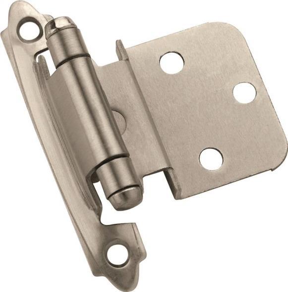 Amerock Inspiration BP3428G10 Self-Closing Cabinet Hinge, 5 Hole, 2-3/4 in L x 2 in W Door Leaf
