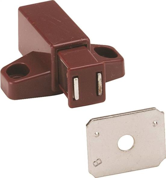 LATCH MAGNETIC PLASTIC BROWN