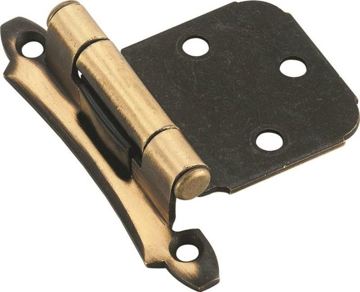 Amerock BP7929AE Self-Closing Imperial Variable Overlay Cabinet Hinge, 5 Hole, 2-3/4 in L, Steel