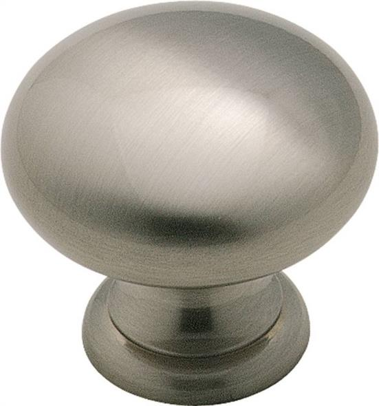 Amerock Allison BP1950HG10 Round Hollow Cabinet Knob, 1 in Projection, 1-1/4 in Dia, Solid Brass