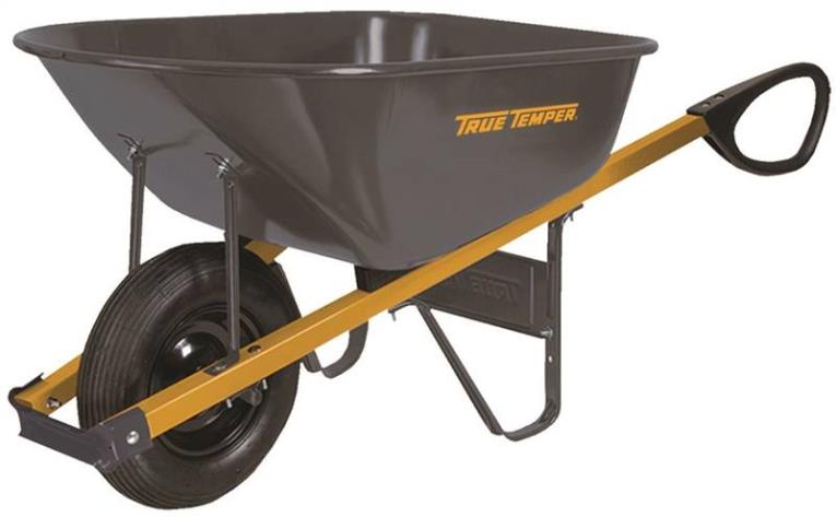 Ames 5872957 Wheelbarrows, Steel, 6 Cu Ft