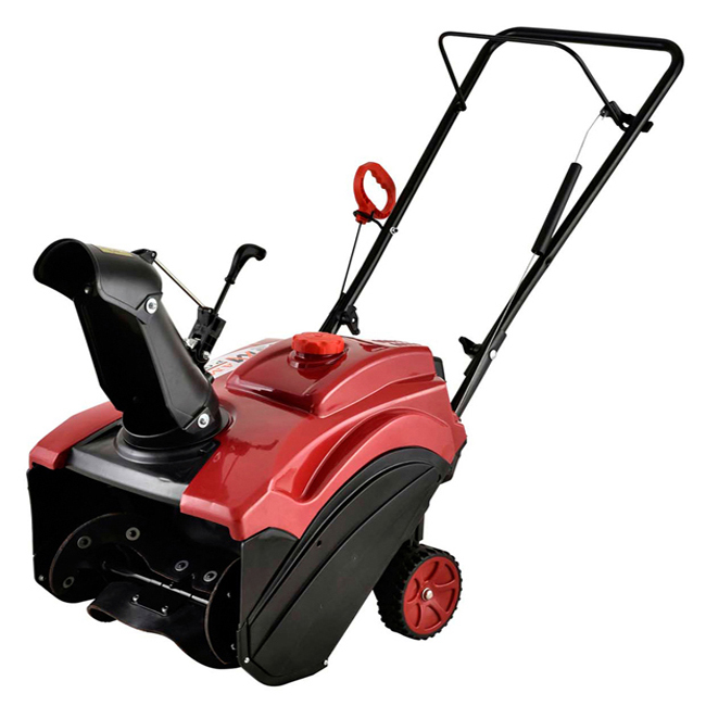 "18"" 87cc Single-Stage Electric Start Gas Snow Blower/Snow Thrower"