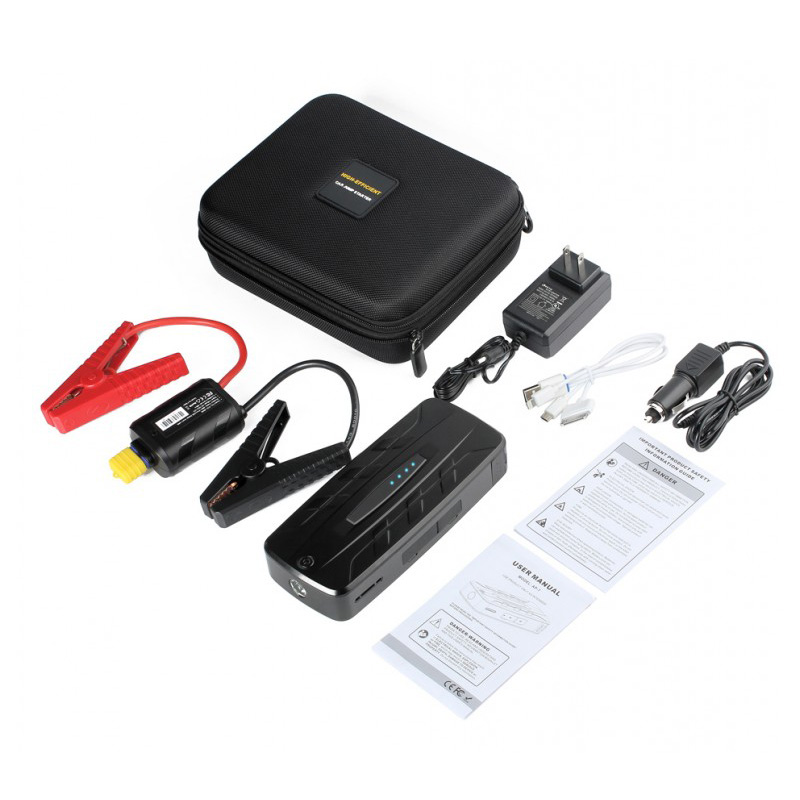 15000 mAh 12V Portable Car Jump Starter Booster Charger Battery Power Bank