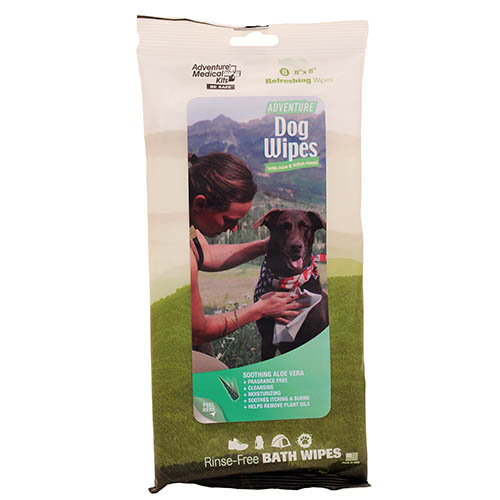 AMK Adventure Dog Wipes, 8 Pack, 8 x 8in