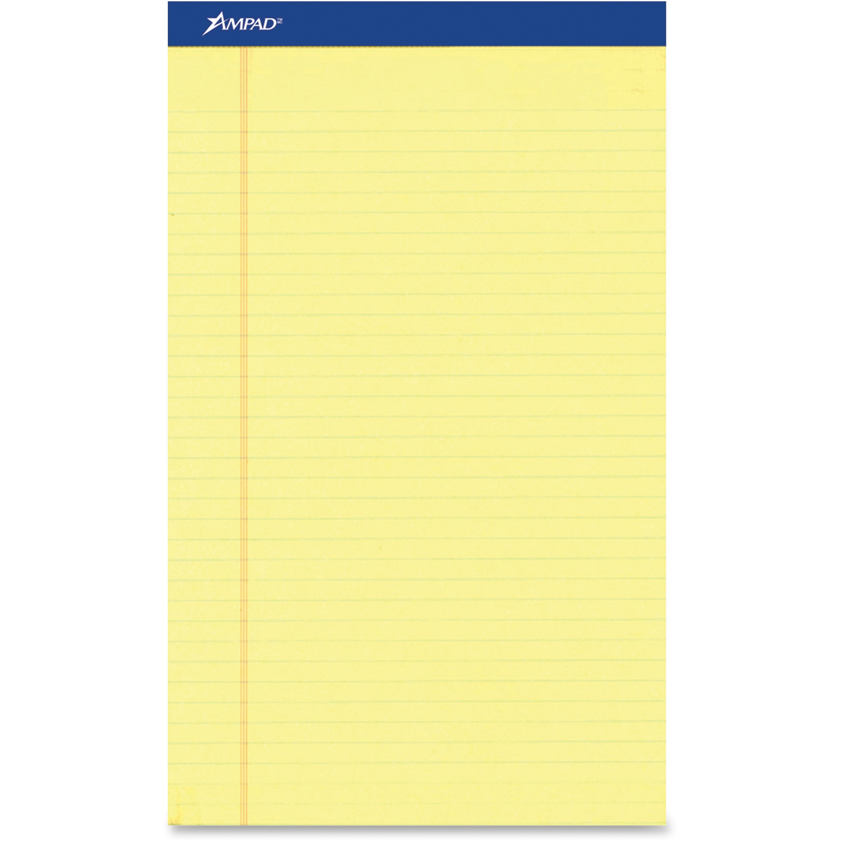 Perforated Writing Pad, 8 1/2 x 11 3/4, Canary, 50 Sheets, Dozen