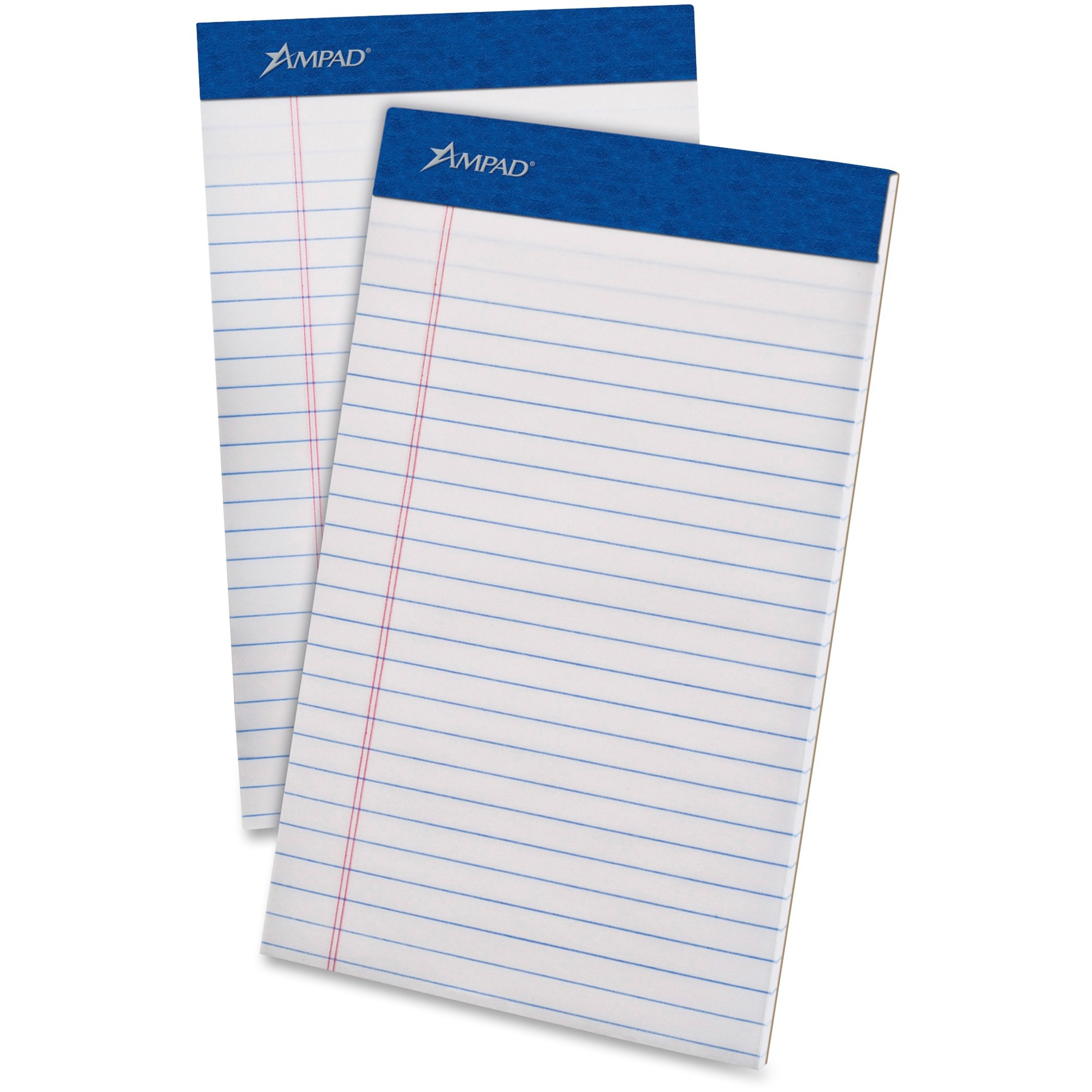 Perforated Writing Pad, Narrow, 5 x 8, White, 50 Sheets, Dozen