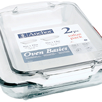 BAKING DISH SET 2QT/3QT