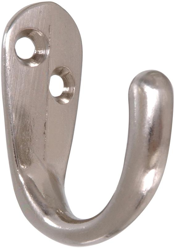 852284 STN NKL CLOTHES HOOK
