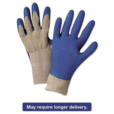 6030L Premium Knit-Back Latex-Palm, Gray/Blue, Large, Dozen