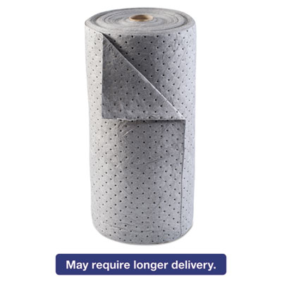 Universal Sorbent-Pad Roll, 30w x 120ft, Gray