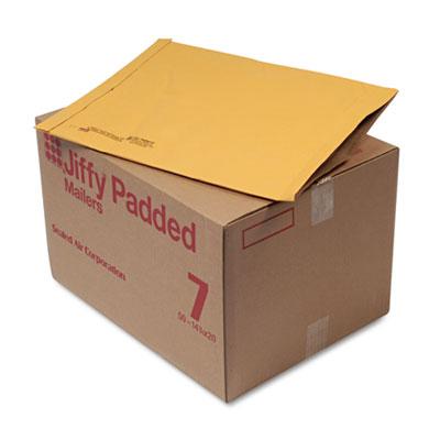 Jiffy Padded Mailer, #7, 14 1/4 x 20, Natural Kraft, 50/Carton