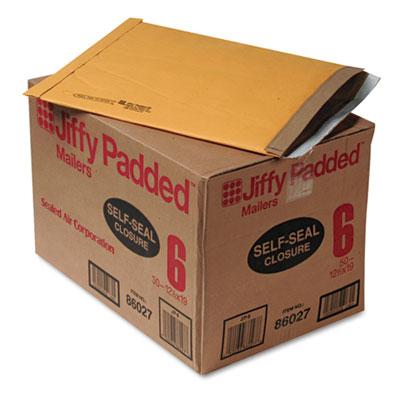Jiffy Padded Self Seal Mailer, #6, 12 1/2 x 19, Natural Kraft, 50/CT