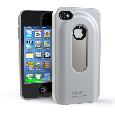 ANNEX OCIP4W WHITE OPENA IPHONE4 4S CASE WITH A SLIDE OUT