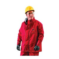 Ansell Large Red Sawyer-Tower CPC+ Polyester Trilaminate Gore+ Chemical Protection Jacket