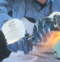 Ansell Size 9 Hycron+ Glove With Nitrile Palm Coated With Safety Cuff