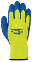 Ansell Size 8 Hi-Viz Yellow And Blue PowerFlex+ T� Hi Viz Yellow+ Rubber Thermal And Terry Cloth Lined Cold Weather Gloves With
