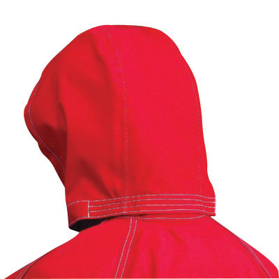 Ansell One Size Fits All Red Sawyer-Tower CPC Polyester Trilaminate Gore� Fabric 3-Piece Chemical Protection Hood