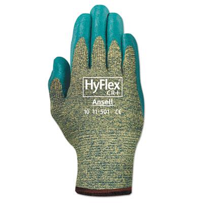 HyFlex 501 Medium-Duty Gloves, Size 8, Kevlar/Nitrile, Blue/Green, 12 Pairs