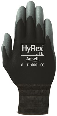 ANSELL HYFLEX LITE DIPPED GLOVES,  SIZE 9