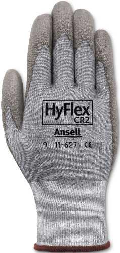 ANSELL HYFLEX CUT-RESISTANT GLOVES WITH DYNEEMA, SIZE 8