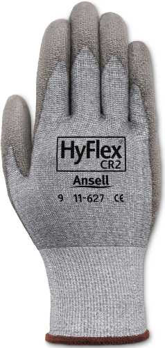 ANSELL HYFLEX CUT-RESISTANT GLOVES WITH DYNEEMA, SIZE 9