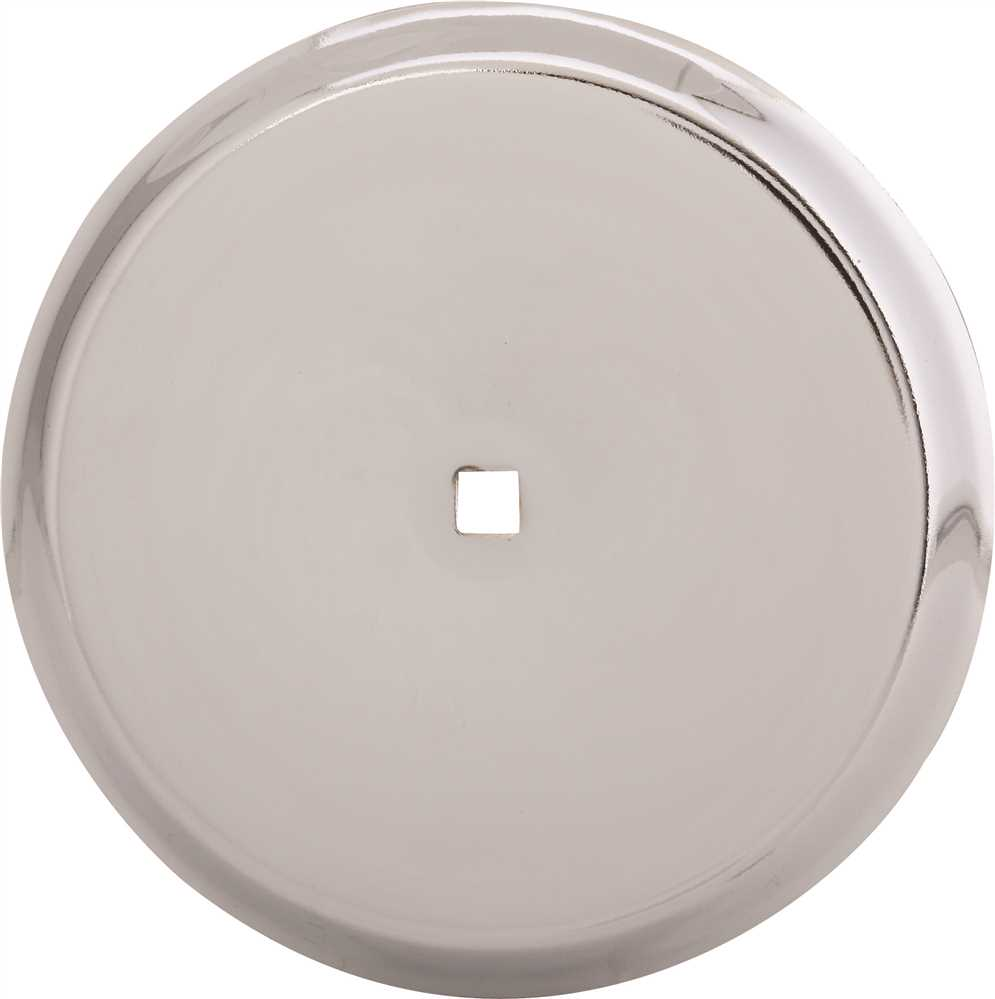 ANVIL MARK� BACKPLATE, 2-3/4 IN. DIAMETER, POLISHED CHROME, 5 PER PACK