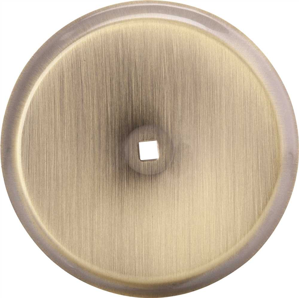 ANVIL MARK� BACKPLATE, 2-3/4 IN. DIAMETER, ANTIQUE BRASS, 5 PER PACK